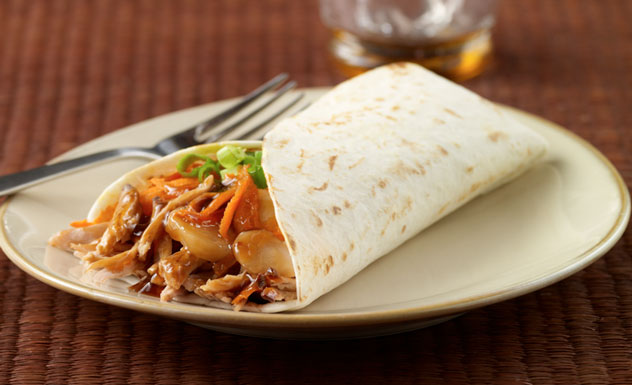Asian-Style Shredded Pork Wraps Recipe